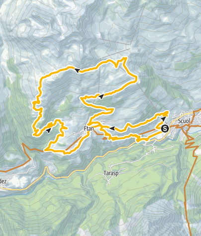 Karte / Alp Clünas Rundtour
