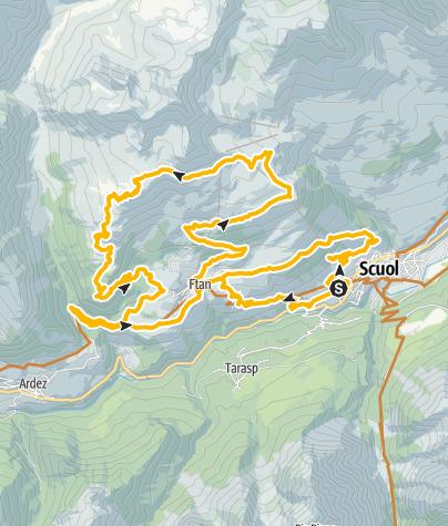 Kaart / Alp Clünas Rundtour