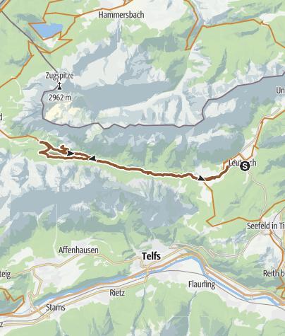Map / Ehrwalderalm und Hochfeldernalm