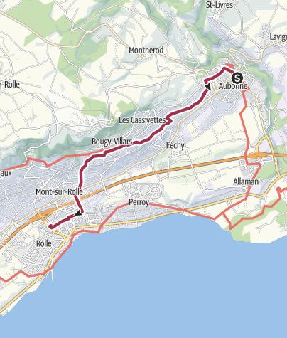 Map / Swiss fine wine trail - La Côte