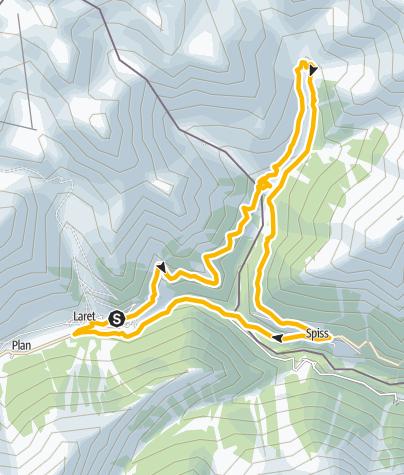Karte / Samnaun-Compatsch-Spiss Rundtour