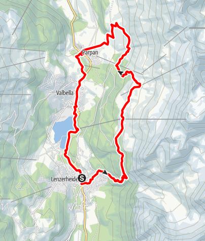 Map / Lenzerheide - Rothorn Mittelstation - Panoramaweg - Parpan - Lenzerheide