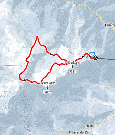 Mapa / Rax-Expedition (nur mit Bergführer empfohlen)