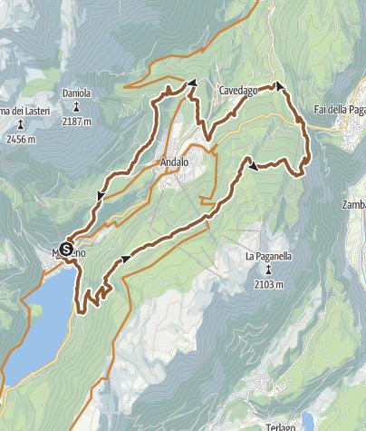 """Cartina / 789 """"Tour dei 4 Paesi"""""""