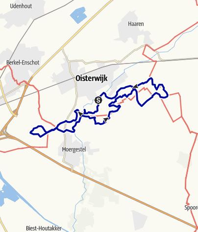 Kaart / Vennentocht Oisterwijk