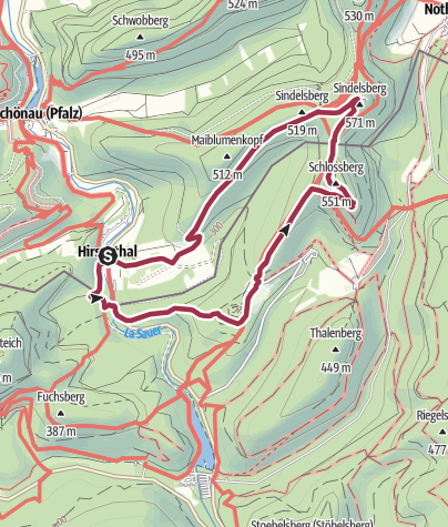 Karte / Hirschtal 4 Burgenweg