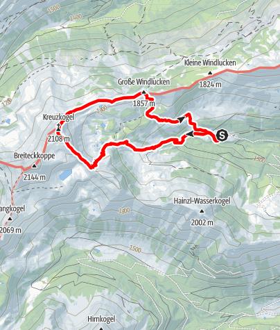 Karte / Kreuzkogel