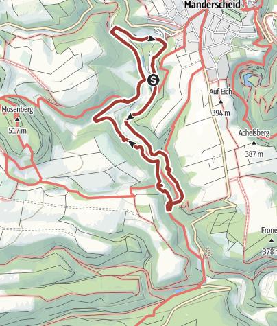 Karte / Achtsamkeits-Pfad Kleine Kyll (Manderscheid)