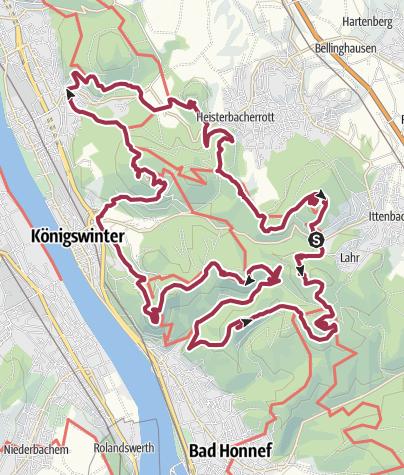 Hartă / Über den Gipfeln des Siebengebirges