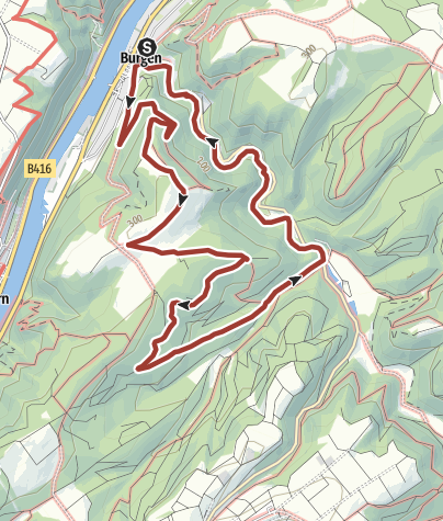 Karte / Forellenweg Burgen