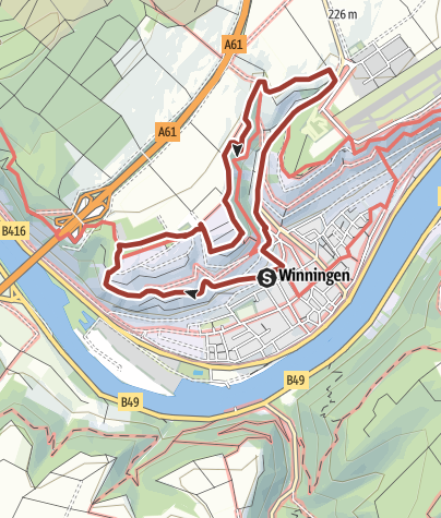 Map / Weinlehrpfad Winningen