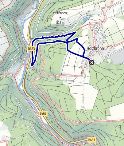 Kaart / Xanderklinge - Holzbronn (mit Hund)