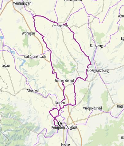 Karte / 22. März 2016 Ottobeuern-Runde: