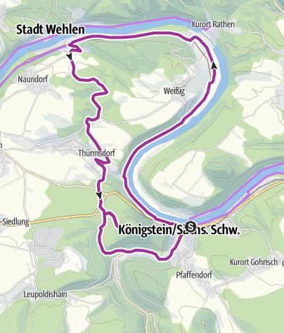 Map / Rund um den Königstein