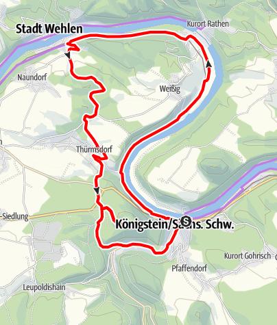 Karte / Rund um den Königstein