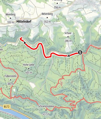 Mapa / Auf dem Flößersteig