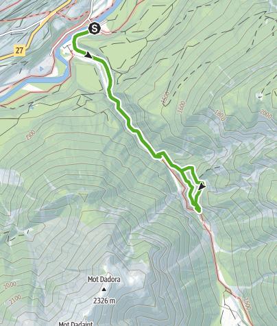 Karte / Abenteuer- und Kulturweg  - «Puntins Ots Uina»