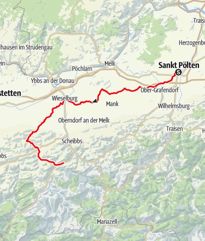 Karte / Meridian - Radroute