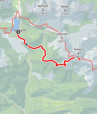 Karte / Rotwandhaus - Zustieg vom Spitzingsee