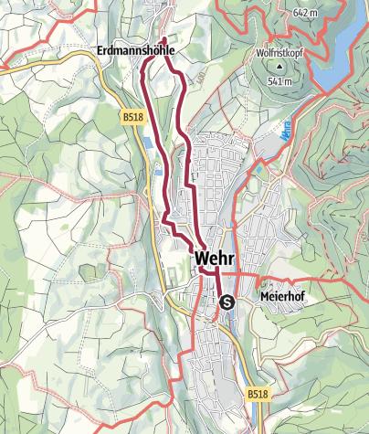 Karte / Wehr: Erdmannsweg