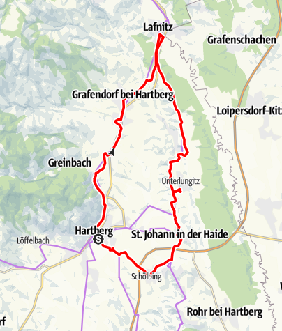 Karte / VeloVital Steirertour