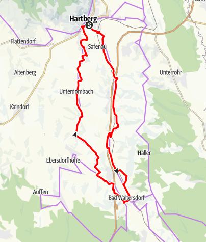 Karte / VeloVital Thermentour