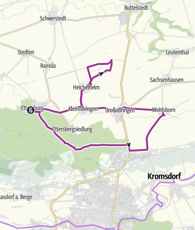 Karte / Kleine Ettersbergrunde