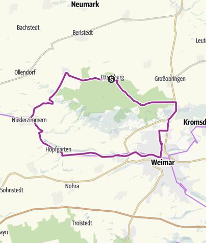 Karte / Große Ettersbergrunde