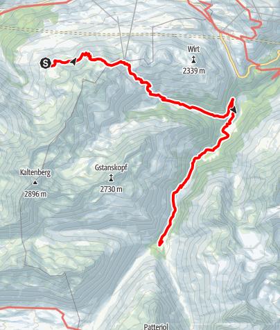 Karte / Von der Kaltenberghütte zur Konstanzer Hütte