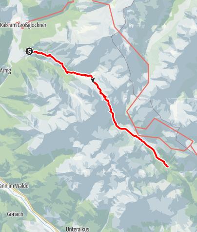 Kaart / Kalser Törl - 912a - Kalser Lesachtal - Seichenbrunn