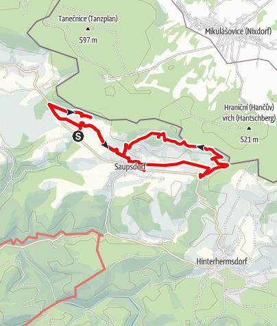Karte / Saupsdorf über Kräuterbaude zum Wachberg