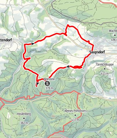 Karte / Ottendorf, Arnstein, Saupsdorf , Richtermühle