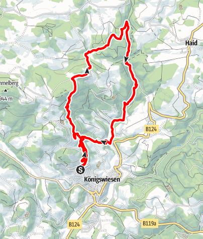 Karte / Trailrunning auf Waldwanderwegen und durch die Klammleiten