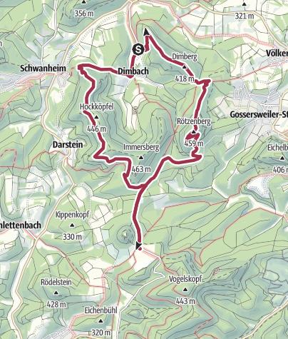 Karte / Dimbacher Bundsandsteinsteig mit Einkehr im Cramerhaus Lindelbrunnen