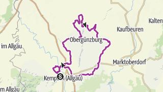 Karte / 19. Juli 2016 Ronsberg-Runde.