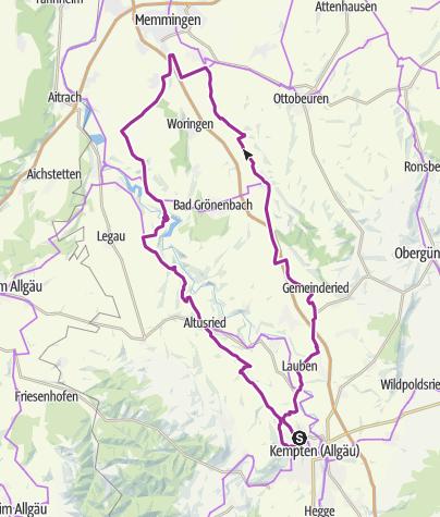 Karte / 20. Juli 2016 Schloss-Kronburg-Runde.