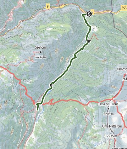 Carte / Über den Simplon - Etappe 1