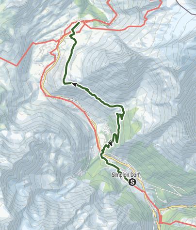 Carte / Über den Simplon - Etappe 3