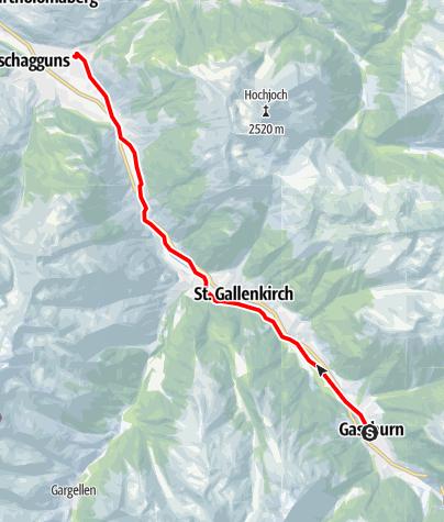 Karte / Longboardstrecke Montafon