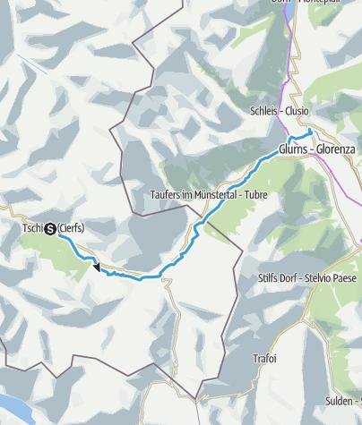 Map / 27: Radweg Tschierv-Mals