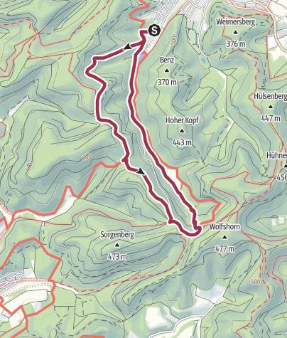 Karte / Hauenstein - Winterkirchel - Dicke Eiche - Paddelweiher