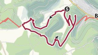 Karte / Gütersteiner Wasserfall - Rutschenfelsen - Uracher Wasserfall - Festungsruine Hohenurach