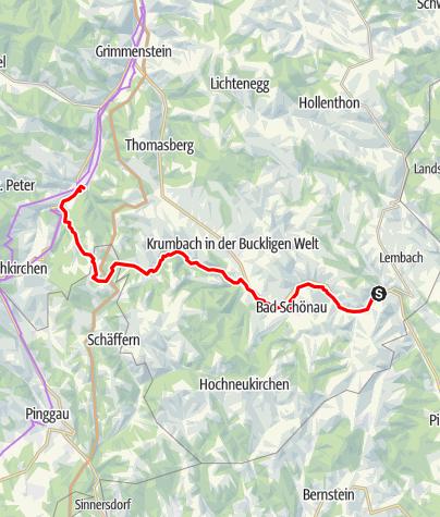 Karte / Zöbernbach Radweg