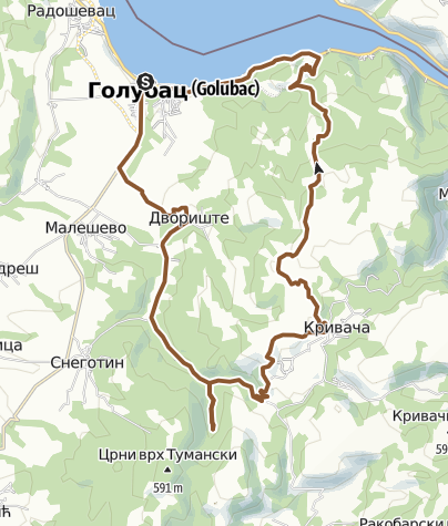 Hartă / Golubac no 4 route - IPA - Bike Attack - The Fortres in the water
