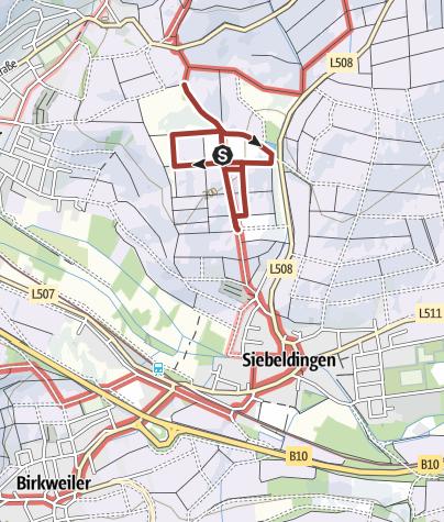 Karte / Rebenlehrpfad auf dem Geilweilerhof