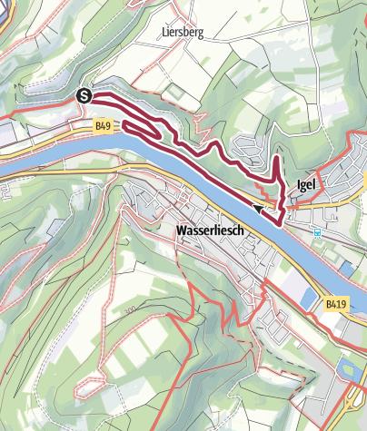 Karte / Wanderweg Igel 3 - Grutenhäuschen