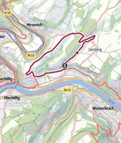 Karte / Wanderweg Igel 5 - Römerstraße