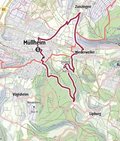 Karte / Rundumwegli - Kleine Tour 3 - Eichwald