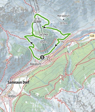 Karte / Pflanzenpfad Samnaun