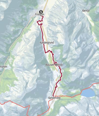 Karte / Lötschberger Bahnwanderweg